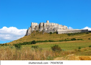 Ruins of Spis Castle (Spissky hrad) in Slovakia, one of the biggest castles in Europe