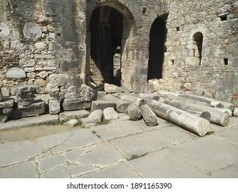 Ruins of St. Nicholas Church at location Demre, Antalya