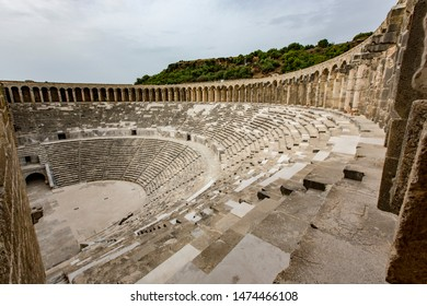 Ruins of stadium at Aspendos, Turkey old
