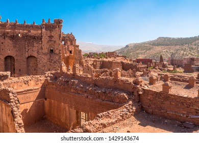 The ruins of the Telouet Kasbah in southern Morocco