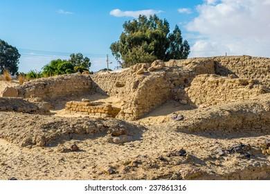 Ruins of the Temple of Ain-al-Muftella, Egypt