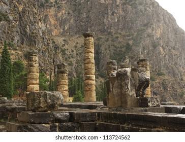 Ruins of the Temple of Apollo at Delphi, Greece