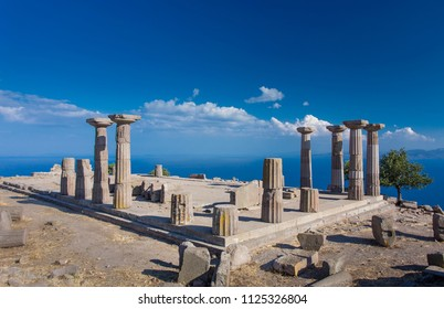 Ruins of the Temple of Athena in Assos, Canakkale, Turkey