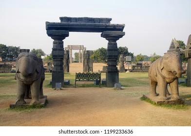 Ruins, Temple complex, Warangal fort, Warangal, Telangana