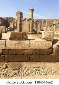Ruins at Temple of Edfu in Egypt