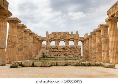 Ruins of Temple of Hera at Selinunte in Sicily, Italy. Selinunte was an ancient Greek city on the south-western coast of Sicily, Italy.