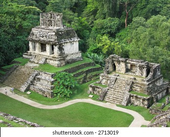 Ruins of the temple in Palenque