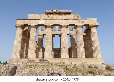 Ruins of the temple of Selinunte, Travel and Tourism in Sicily, Italy