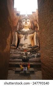 Ruins temple of Sukhothai historical park