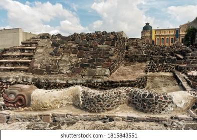 Ruins of Templo Mayor of Tenochtitlan in Mexico City.