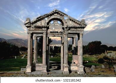 Ruins Tetrapylon at Afrodisias
