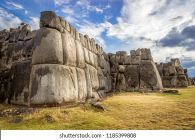 Ruins of thee Inca Fortress of Saqsaywaman outside Cuzco Peru