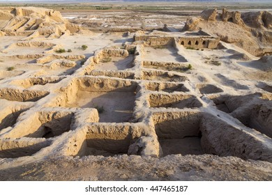 The ruins of Toprak-Kala, Karakalpakstan, one of the Fortresses of Ancient Khorezm, Uzbekistan during the Zoroastrian period.