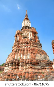Ruins of tower in Ayutthaya, ancient capital of Thailand