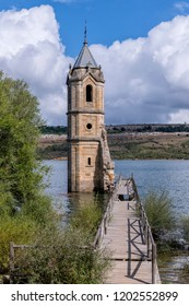Ruins of the tower of a church in Spain