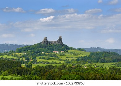 Ruins of Trosky castle in Bohemian Paradise region, Czech Republic, Europe