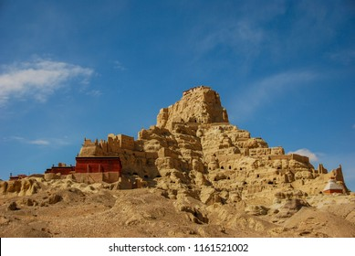 Ruins of Tsaparang, ancient capital of Kingdom of Guge in Western Tibet, Ngari Prefecture, Zanda county.