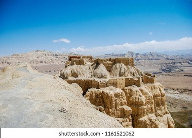 Ruins of Tsaparang, ancient capital of Kingdom of Guge in Western Tibet, Ngari Prefecture, Zanda county.