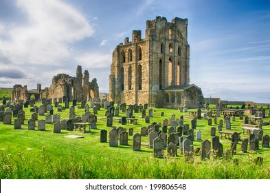 The ruins of Tynemouth castle and priory, England, UK