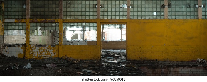 ruins of a very heavily polluted industrial factory, industrial series