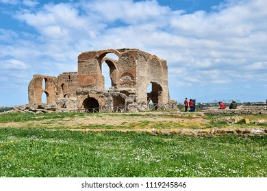 Ruins of Villa dei Quintili on the Appian Way in Rome