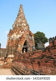 The ruins of Wat Chai Watthanaram, Ayuthaya, Thailand