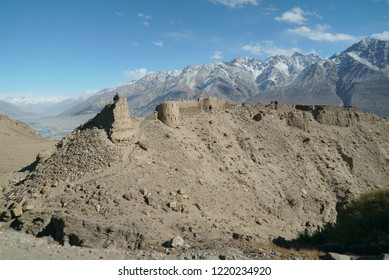 Ruins of Yamchun Fortress,Pamir, the border of Afghanistan