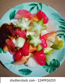 Rujak is street food that is sold in almost all regions in Indonesia, the main ingredient of rujak is mixed fruits