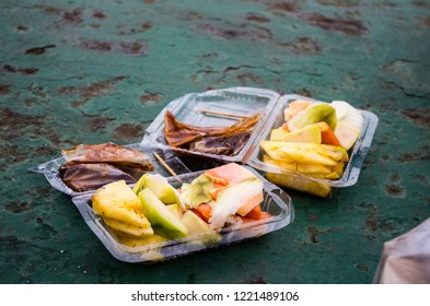 RUJAK - traditional fruit and vegetable salad in Indonesia.