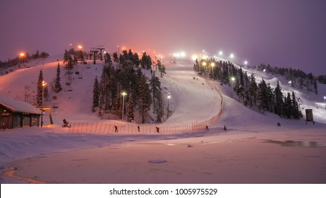 Ruka ski resort slopes. Ruka, Finland - Shutterstock ID 1005975529