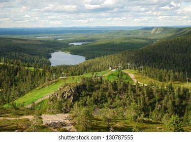 Rukatunturi is a 490 meters high fell and a ski resort in Kuusamo in the middle of lakes and evergreen forests of Finland.