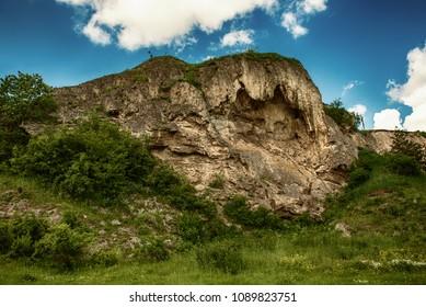 Rukomysh Cave temple, Buchach District, Ternopil Region, Ukraine.