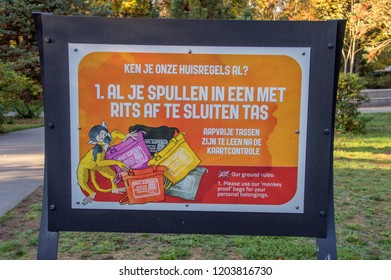 Rule 1 At The Apenheul Zoo At Apeldoorn The Netherlands 2018 Use The Special Bag