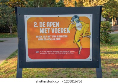 Rule 2 At The Apenheul Zoo At Apeldoorn The Netherlands 2018 Don't Feed