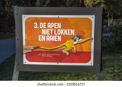 Rule 3 At The Apenheul Zoo At Apeldoorn The Netherlands 2018 Don't Pet