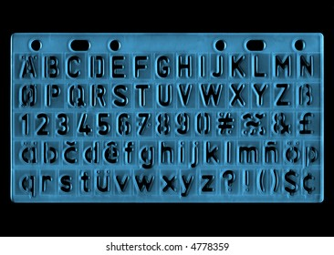 ruler with alphabet - letter trace