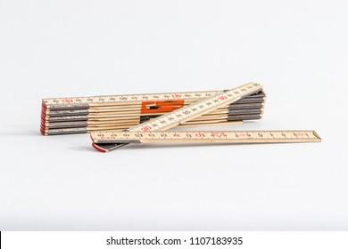 Ruler folding carpenter wood