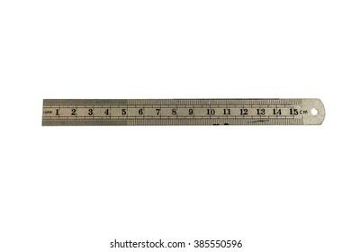 Ruler isolated on white background