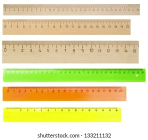 rulers isolated on white background