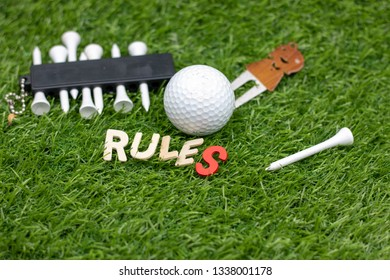 Rules of golf,The object of the game is to complete what is known as a hole by playing a ball from the teeing ground into the hole on the putting green in the fewest possible number of strokes.