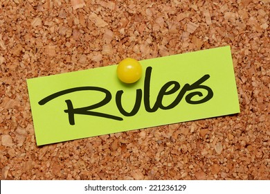 rules word on notepaper