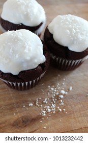 Rum and Coconut Chocolate Muffins