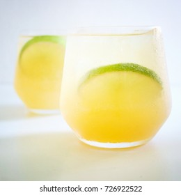 Rum and lime cocktails