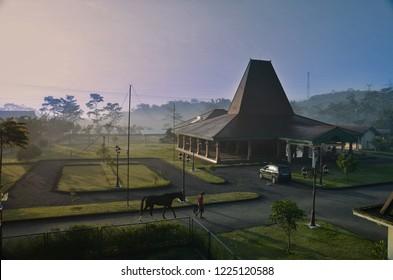 rumah adat jawa solo, central java indonesia