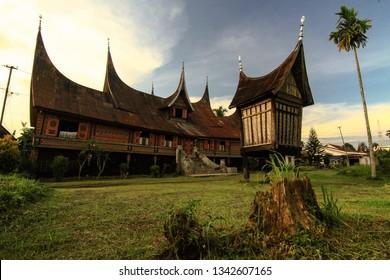 rumah gadang minang, west sumatera, indonesia