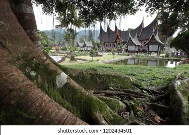 Rumah Gadang in Padang Panjang West Sumatra Indonesia, September 16, 2017.