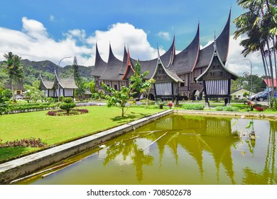 Rumah Gadang is The Traditional House In Minang Kabau West Sumtra