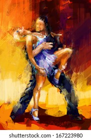 rumba dancers digital painting/rumba dancers