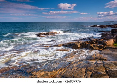 Rumbling Kern Rocks / At Rumbling Kern near Howick on the Northumberland coastline lies a small beach and cove, sheltered by small cliffs