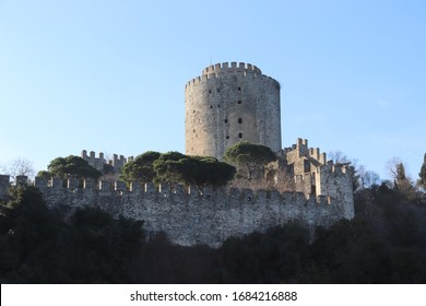 Rumeli Hisar Fortress seen from water, Istanbul, Turkey